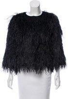 Kate Spade Silk-Blend Feather Jacket