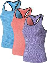 jeansian Women's 3 Packs Quick Dry Compression Tank Tops Vests SMF001 PackF S