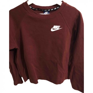 Nike Burgundy Cotton Knitwear for Women