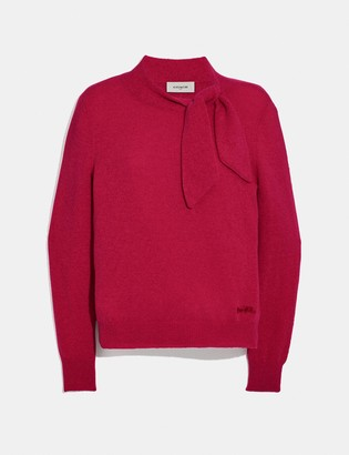 Coach Horse And Carriage Tie Neck Sweater