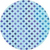 Blue Area Round Abstract Wool Light Rug East Urban Home Rug Size: Runner 2' x 5'