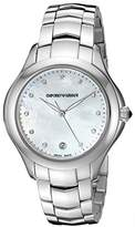 Emporio Armani Swiss Made Women's Quartz Stainless Steel Watch, Color:Silver-Toned (Model: ARS8502)