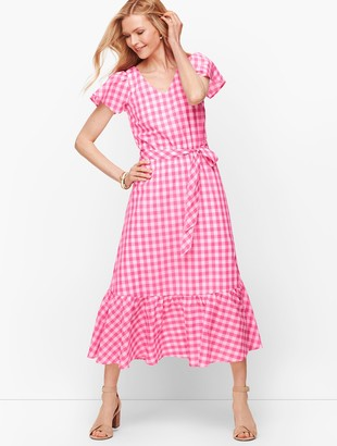 Talbots Gingham Maxi Dress