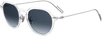 Christian Dior Men's DiorDisappear1 Round Transparent Gradient Sunglasses