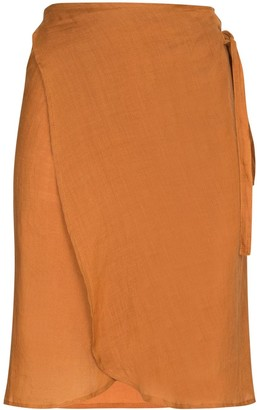 Anemos High-Waisted Wrap Skirt