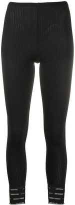 Pleats Please Issey Miyake Ribbed Cropped Leggings