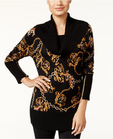 Thalia Sodi Chain-Print Sweater, Only at Macy's