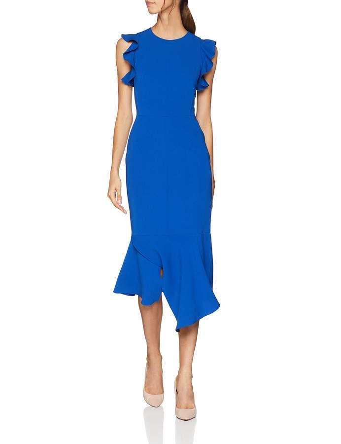 Karen Millen Women's Fit and Flare Ruffle DresParty Party Dress