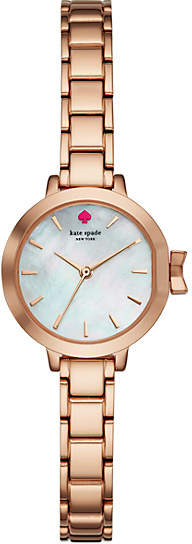 Kate Spade Park row mini rose gold-tone bracelet watch