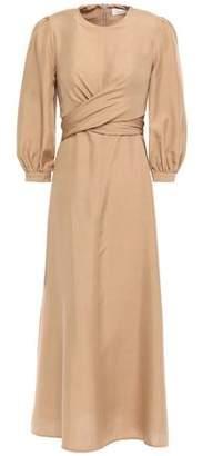 Zimmermann Twist-front Silk-shantung Midi Dress