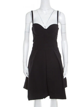 Preen by Thornton Bregazzi Black Pleated Corset Ted Felini Dress M