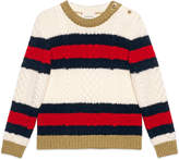 Gucci Children's wool sweater with Web