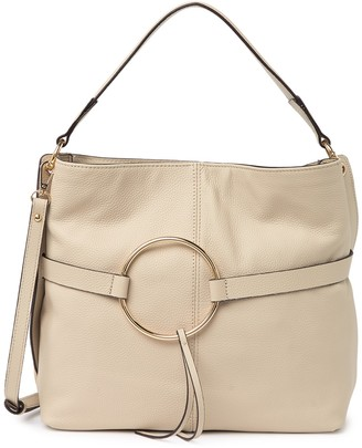Melrose and Market Pebbled Leather Tassel Ring Shoulder Bag