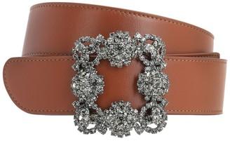 Manolo Blahnik 35mm Hangisi Leather Belt