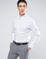 Selected Slim Smart Shirt In Texture