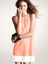 Victoria's Secret Pleated Colorblock Shift Dress