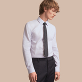 Burberry Slim Fit Striped Cotton Poplin Shirt