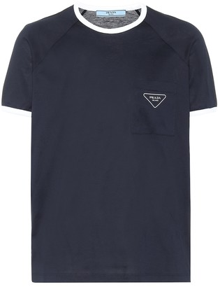 Prada Raglan cotton-jersey T-shirt