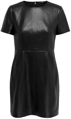 Only Faux Leather Mini Dress