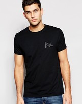 Jack Wills T-shirt With Chest Print In Black
