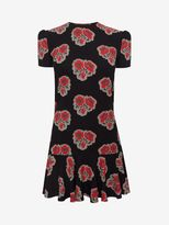 Alexander McQueen Printed Ruffle Dress