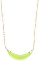 Alexis Bittar Capped Crescent Pendant Necklace