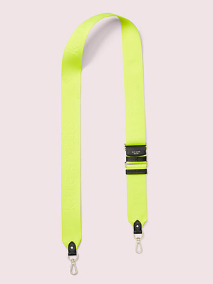 Kate Spade Make It Mine Thick Neon Logo Webbed Crossbody Strap