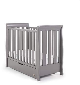 O Baby Obaby Stamford Sleigh Space Saver Cot - Taupe Grey
