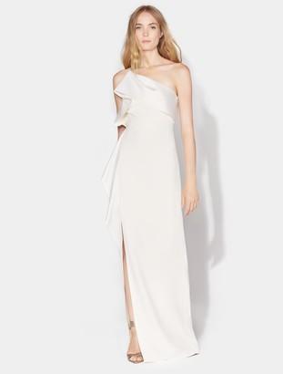 Halston Satin Drape Gown
