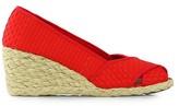 Lauren Ralph Lauren Cecilia II Espadrille Wedge Sandal Shoe - Red Woven - Womens - 9.5