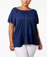 Style&Co. Style & Co Plus Size Off-The-Shoulder Top, Created for Macy's