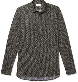 Saint Laurent Printed Cotton-Poplin Shirt