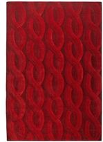 Pier 1 Imports Chunky Cable Red 5x8 Rug