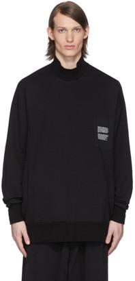 Julius Black Mock Neck Sweatshirt