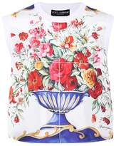 Dolce & Gabbana Printed sleeveless silk top