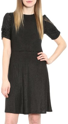 MICHAEL Michael Kors Metallic Dot Short-Sleeve Dress
