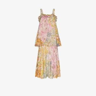 Zimmermann Tiered floral maxi dress