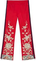 Gucci Jersey pant with gold embroidery