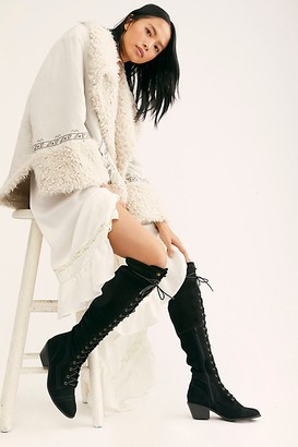 Jeffrey Campbell Joe Lace-Up Over-the-Knee Boots