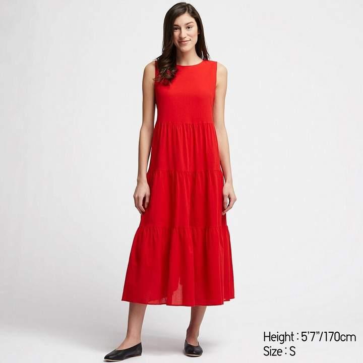 Uniqlo WOMEN Tiered Sleeveless Long Dress
