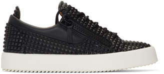 Giuseppe Zanotti Black Pyramid Stud May London Sneakers