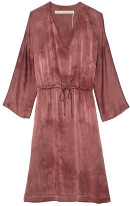Raquel Allegra Caftan Dress in Dark Blush Tie Dye