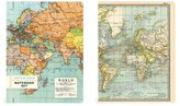 Cavallini & Co. NBSET/MAP Map Notebook, Set of 2