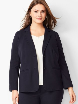 Talbots Plus Size Italian Luxe Knit Two-Button Blazer