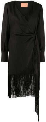 Andamane Carly fringed hem dress