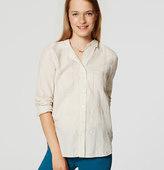 LOFT Shimmer Plaid Softened Shirt