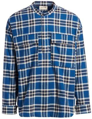 Fear Of God Sixth Collection Flannel Henley Long-Sleeve Pullover