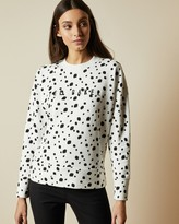 Ted Baker ABRIIL Polka dot cotton blend sweater