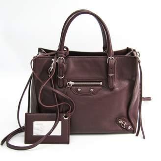 Balenciaga Papier Burgundy Leather Handbags