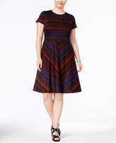 Sangria Plus Size Printed A-Line Dress